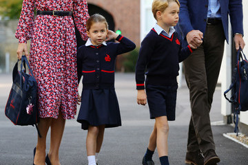 Kate Middleton Prince George Princess Charlotte's First Day Of School