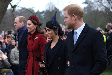 Kate Middleton Prince Harry The Royal Family Attend Church On Christmas Day