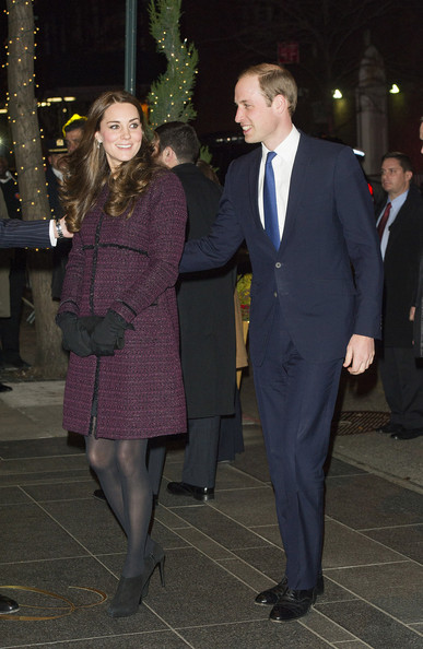 Kate Middleton Prince William, Duke of Cambridge and Catherine, Duchess of Cambridge (L) arrive at The Carlyle Hotel, where they will be staying during their official two-day visit to the United States, on December 7, 2014 in New York City.