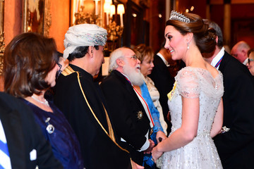 Kate Middleton The Duke And Duchess Of Cambridge Attend Evening Reception For Members Of The Diplomatic Corps