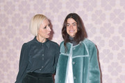 Author Leandra Medine (L) and designer Nicola Glass attend the Kate Spade fashion show during New York Fashion Week at Cipriani 25 Broadway on February 08, 2019 in New York City.