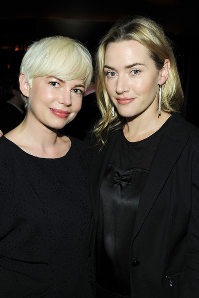 "Kate Winslet Actresses Michelle Williams and Kate Winslet attend the Private Screening of The Weinstein Company's ""Blue Valentine"" Hosted by Kate Winslet at Tribeca Grand Hotel on November 30, 2010 in New York City."