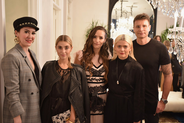 BCBGMAXAZRIA Celebrates SoHo Store Opening With Kate Young, Bernd Kroeber And InStyle [people,social group,event,fashion,team,fashion design,interior design,family,performance,little black dress,bernd kroeber,kate young,sophie bickley,charlotte bickley,l-r,soho,store,bcbgmaxazria,instyle,celebration]