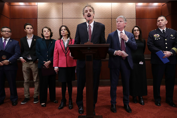 Lawmakers Discuss Brady Campaign To Prevent Gun Violence's Plan For Increased Gun Safety Laws [brady campaign to prevent gun violence,plan,gun safety laws,event,official,government,lawmakers,mike feuer,david hogg,dianne feinstein,salud carbajal,cyrus vance jr.,katherine fernandez rundle]