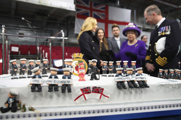 Katherine Jenkins The Queen and the Princess Royal Visit HM Naval Base in Portsmouth