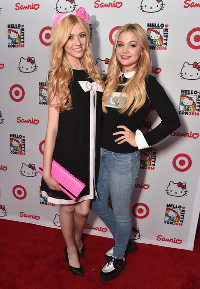 Hello Kitty Con Opening Night Party  [blond,event,premiere,carpet,long hair,flooring,red carpet,eyelash,actors,olivia holt,katherine mcnamara,los angeles,california,target,hello kitty con 2014 opening night party]