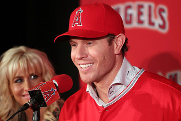 Katie Hamilton Los Angeles Angels of Anaheim Introduce Josh Hamilton