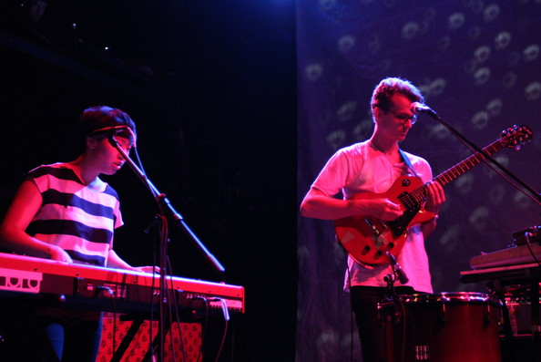 Braids In Concert [braids in concert,musician,performance,music,performing arts,entertainment,concert,music artist,public event,musical instrument,event,bowery ballroom,new york city,katie lee,taylor smith of braids]