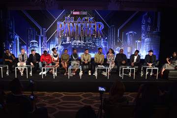 Katie Price Marvel Studios' 'Black Panther' Global Junket Press Conference