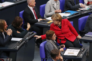 Katrin Goering-Eckardt Bundestag Meets for First Time Since Coalition Failure