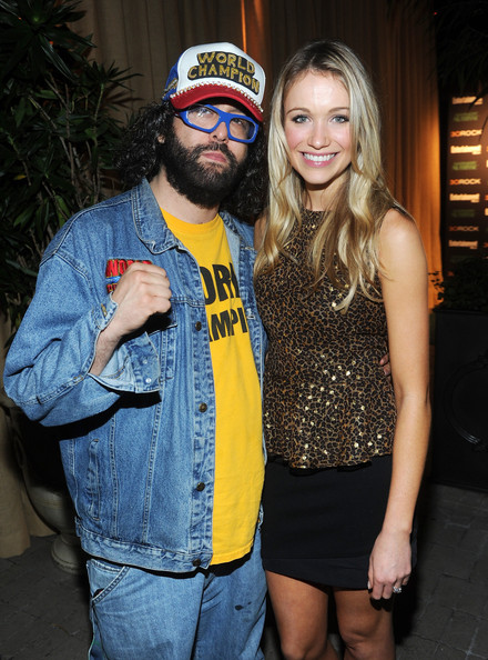 Entertainment Weekly And NBC Celebrate The Final Season Of '30 Rock' Sponsored By Garnier Nutrisse - Inside [celebrate the final season of 30 rock,headgear,event,denim,facial hair,beard,fashion accessory,party,glasses,actors,katrina bowden,judah friedlander,garnier nutrisse - inside,entertainment weekly,nbc,garnier nutrisse,celebration,season]