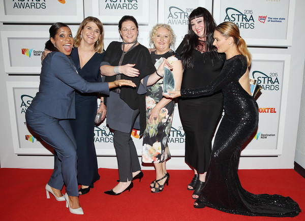 ASTRA Awards Awards Room [red carpet,carpet,event,premiere,flooring,fashion,dress,suit,formal wear,little black dress,cast,most oustanding drama australian,award,astra awards - awards room,wentworth,australia,sydney,astra awards,the star]