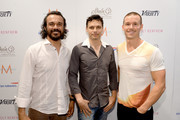 (L-R) Actor Aaron Pedersen, director/screenwriter Ivan Sen and actor Ryan Kwanten attend the Variety Studio presented by Moroccanoil at Holt Renfrew during the 2013 Toronto International Film Festival on September 10, 2013 in Toronto, Canada.