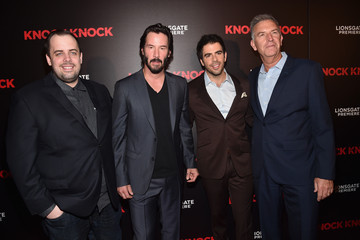 Keanu Reeves Eli Roth Premiere of Lionsgate's 'Knock Knock' - Red Carpet