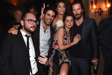 Keanu Reeves Lorenza Izzo Premiere of Lionsgate Premiere's 'Knock Knock' - After Party