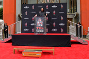 Keanu Reeves speaks during his handprint ceremony at the TCL Chinese Theatre IMAX forecourt on May 14, 2019 in Hollywood, California.