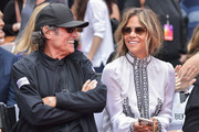 Ian McShane and Halle Berry attend 'Keanu Reeves places his hand prints in cement' at TCL Chinese Theatre IMAX on May 14, 2019 in Hollywood, California.