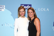 """(L-R)  Founder of FINERY.com Brooklyn Decker and Keds President Gillian Meek attend the """"CHAMPION EQUALITY. MAKE IT YOUR BUSINESS."""" panel event hosted by Keds & LOLA to celebrate Women's Equality Day at NeueHouse on Wednesday, August 23, 2017 in New York City."""
