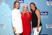 """(L-R)  Founder of FINERY.com Brooklyn Decker,  Co-Founder and CEO of IT Cosmetics Jamie Kern Lima and Keds President Gillian Meek attend the """"CHAMPION EQUALITY. MAKE IT YOUR BUSINESS."""" panel event hosted by Keds & LOLA to celebrate Women's Equality Day at NeueHouse on Wednesday, August 23, 2017 in New York City."""