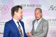(L-R) Chris Isaak and Kelsey Grammer attend the 24th annual Keep Memory Alive 'Power of Love Gala' benefit for the Cleveland Clinic Lou Ruvo Center for Brain Health at MGM Grand Garden Arena on March 07, 2020 in Las Vegas, Nevada.