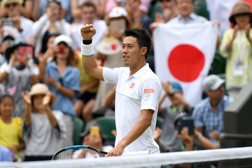 Kei Nishikori Day Six: The Championships - Wimbledon 2019