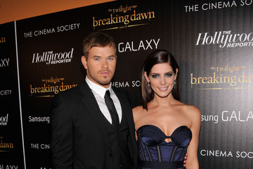 """Kellan Lutz Ashley Greene The Cinema Society With The Hollywood Reporter And Samsung Galaxy Host A Screening Of """"The Twilight Saga: Breaking Dawn Part 2"""" - Arrivals"""