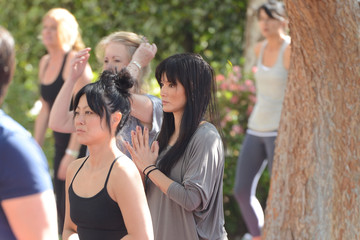 Kelly Hu Kate Beckinsale's Yoga Fundraiser Benefit