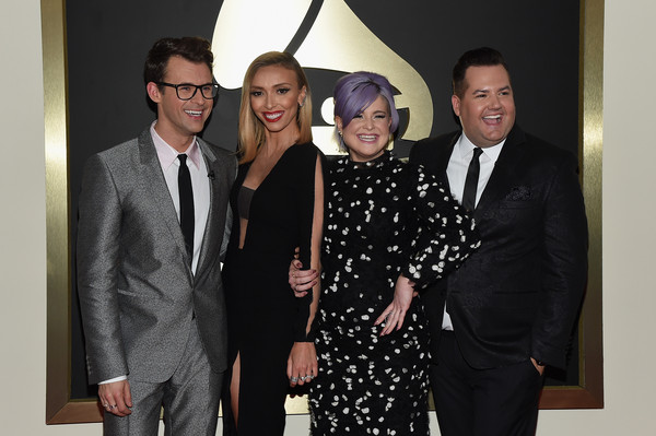 The 57th Annual GRAMMY Awards - Red Carpet [red carpet,event,suit,fashion,formal wear,tuxedo,white-collar worker,black-and-white,style,fashion design,tv personalities,kelly osbourne,giuliana rancic,brad goreski,ross mathews,l-r,california,57th annual grammy awards,the 57th annual grammy awards]