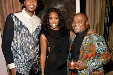 Kelly Rowland GREY GOOSE Le Melon Toasts Carmelo Anthony