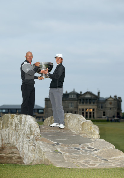 Alfred Dunhill Links Championship - Day Four [photograph,wedding,ceremony,event,formal wear,bride,photography,gesture,suit,tourism,thorbjorn olesen,kelly slater,trophy,hole,denmark,american,swilcan bridge,playing partner,alfred dunhill links championship,victory]