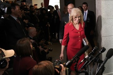 Kellyanne Conway Donald Trump Meets With House Republicans During Their Weekly Party Conference