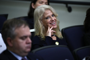 Kellyanne Conway Donald Trump Holds CEO Town Hall On US Business Climate At White House