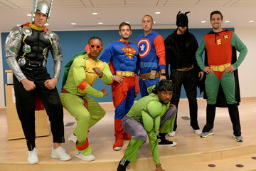 Kelyn Rowe New England Revolution Players are Boston Children's Hospital Superheroes for the Day