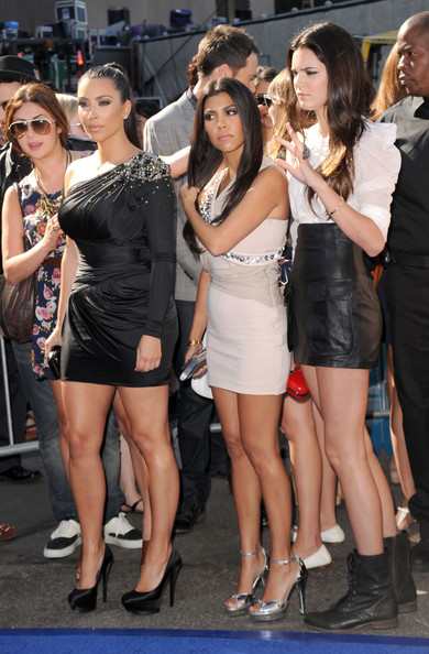 Kendall Jenner Television personalities Kim Kardashian, Kourtney Kardashian, and Kendall Jenner arrive at the 2010 Teen Choice Awards at Gibson Amphitheatre on August 8, 2010 in Universal City, California.
