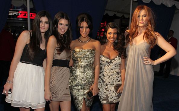 Kendall Jenner TV personalities Kylie Jenner, Kendall Jenner, Kim Kardashian, Kourtney Kardashian and Khloe Kardashian arrives at the 2011 People's Choice Awards at Nokia Theatre L.A. Live on January 5, 2011 in Los Angeles, California.