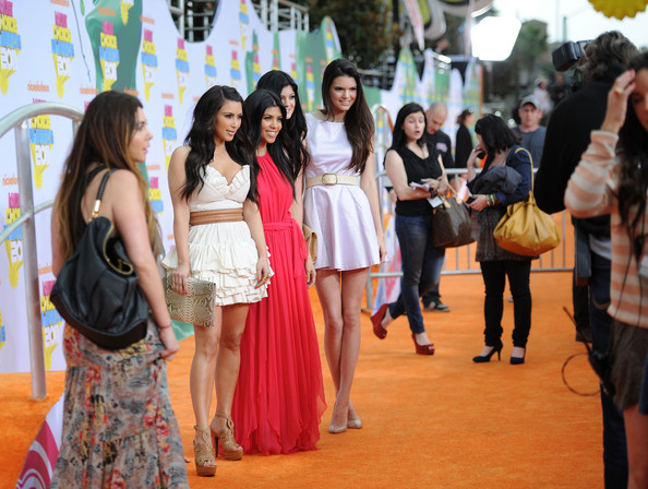 Kendall Jenner (L-R) TV personalities Kim Kardashian, Kourtney Kardashian, Kendall Jenner and Kylie Jenner arrive at Nickelodeon's 24th Annual Kids' Choice Awards at Galen Center on April 2, 2011 in Los Angeles, California.