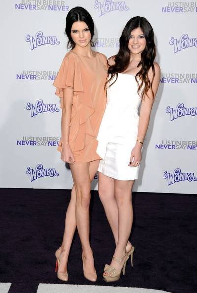 "Kendall Jenner TV personalities Kendall Jenner and Kylie Jenner arrive at the premiere of Paramount Pictures' ""Justin Bieber: Never Say Never"" held at Nokia Theater L.A. Live on February 8, 2011 in Los Angeles, California."