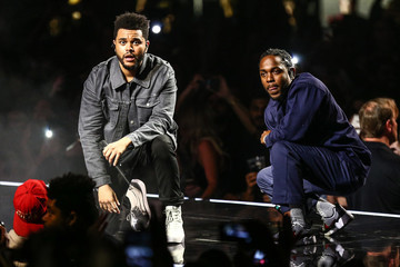 Kendrick Lamar Kendrick Lamar Joins The Weeknd During the 'Legends of the Fall Tour' at The Forum