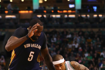 Kendrick Perkins New Orleans Pelicans v Boston Celtics