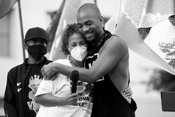 Kendrick Sampson BLD PWR And Black Lives Matter Los Angeles Host Final March To The Polls In Downtown Los Angeles