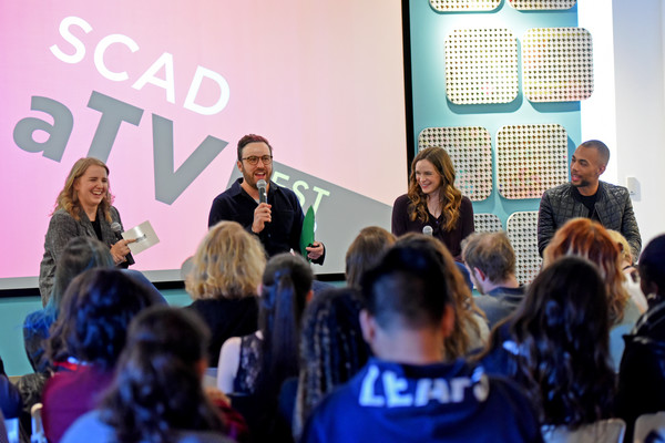 SCAD aTVfest 2018 Screenings and Panels - Day 3 [green,event,youth,community,yellow,design,adaptation,convention,job,room,samantha highfill,kendrick sampson,danielle panabaker,david rappaport,panels,georgia,atlanta,panel,screenings,scad atvfest 2018]