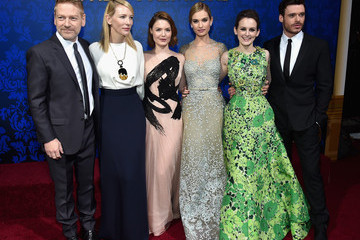 Kenneth Branagh Lily James 'Cinderella' Premieres in Hollywood — Part 2