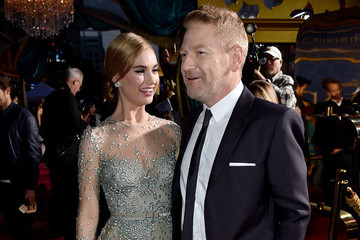 Kenneth Branagh Lily James 'Cinderella' Premieres in Hollywood — Part 4