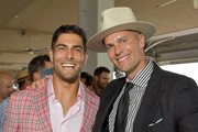 Jimmy Garoppolo and Tom Brady attend the 145th Kentucky Derby at Churchill Downs on May 04, 2019 in Louisville, Kentucky.