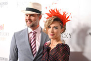 Travis Schuldt and Natalie Zea attends the 145th Kentucky Derby at Churchill Downs on May 04, 2019 in Louisville, Kentucky.