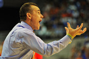 Coach Billy Donovan of the Florida Gators directs play against the Kentucky Wildcats February 12, 2013 at Stephen C. O'Connell Center in Gainesville, Florida. Florida won 69 - 52.