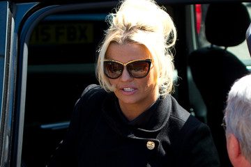 Kerry Katona Funeral OF Entertainer and Producer David Gest