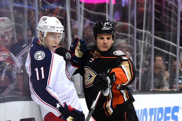 Kevin Bieksa Columbus Blue Jackets v Anaheim Ducks