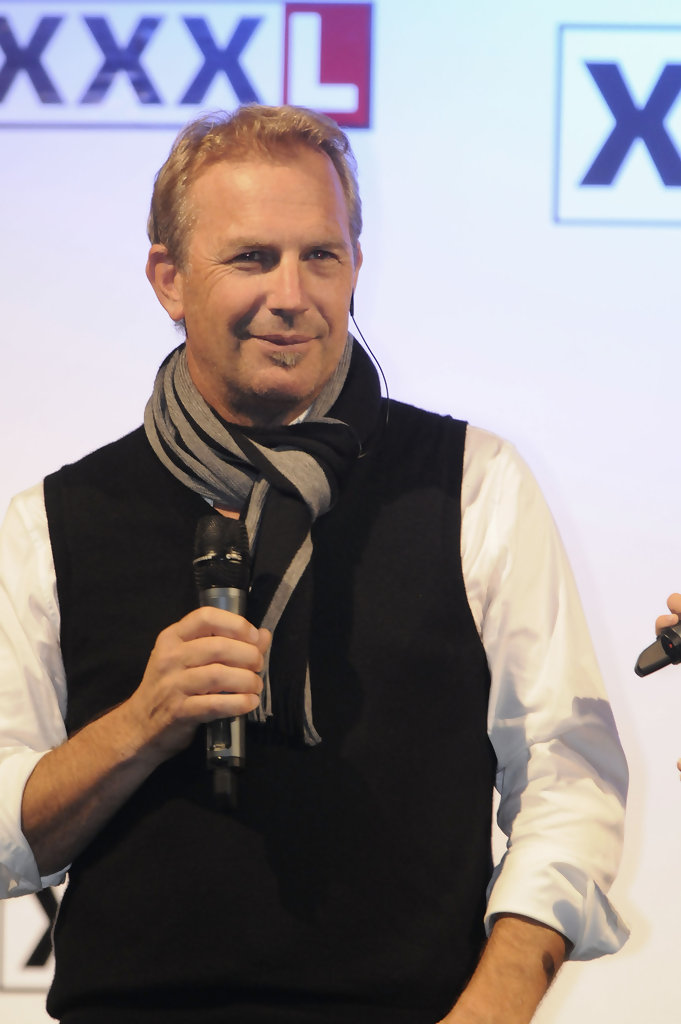 kevin costner in kevin costner and alfons schuhbeck at xxxlutz zimbio. Black Bedroom Furniture Sets. Home Design Ideas