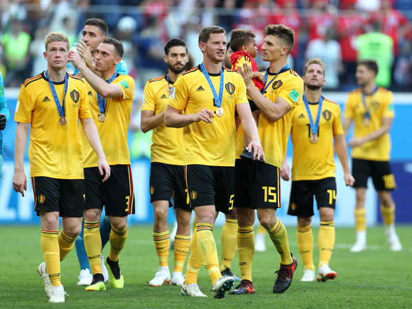 Belgium vs. England: 3rd Place Playoff - 2018 FIFA World Cup Russia [player,team sport,ball game,team,soccer player,sport venue,football player,soccer,football,sports,3rd place playoff - 2018 fifa world cup,sides victory,match,russia 3rd place playoff,2018 fifa world cup,belgium,russia,england,saint petersburg stadium,players]